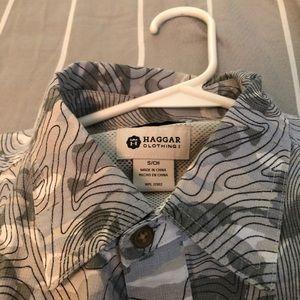 Men's Golf Topography button down shirt